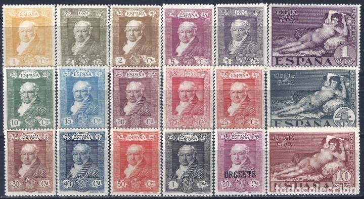 EDIFIL 499-516 QUINTA DE GOYA 1930 (SERIE COMPLETA). VALOR CATÁLOGO: 95 €. LUJO. MNH ** (Sellos - España - Alfonso XIII de 1.886 a 1.931 - Nuevos)