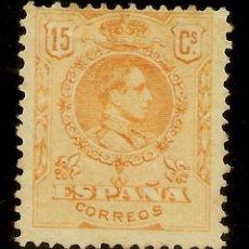 Sellos: EDIFIL 271 (*) MNG 15 CÉNTIMOS NARANJA ALFONSO XIII MEDALLÓN 1909/22 NL1593. Lote 175654534