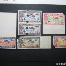 Selos: CRUZ ROJA AEREOS SIN DENTAR TALADRO MUESTRA ED.339-348 (*) EXCELENTES.. Lote 175997575