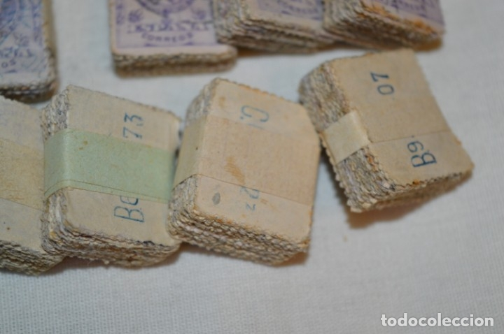 Sellos: Oportunidad 1000 Sellos - ALFONSO XIII - Tipo MEDALLÓN - 20 Cts, Reverso numerados, en pastillas 100 - Foto 4 - 176814012