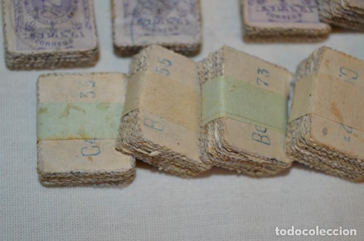 Sellos: Oportunidad 1000 Sellos - ALFONSO XIII - Tipo MEDALLÓN - 20 Cts, Reverso numerados, en pastillas 100 - Foto 5 - 176814012