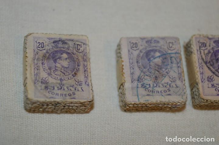 Sellos: Oportunidad 1000 Sellos - ALFONSO XIII - Tipo MEDALLÓN - 20 Cts, Reverso numerados, en pastillas 100 - Foto 7 - 176814012