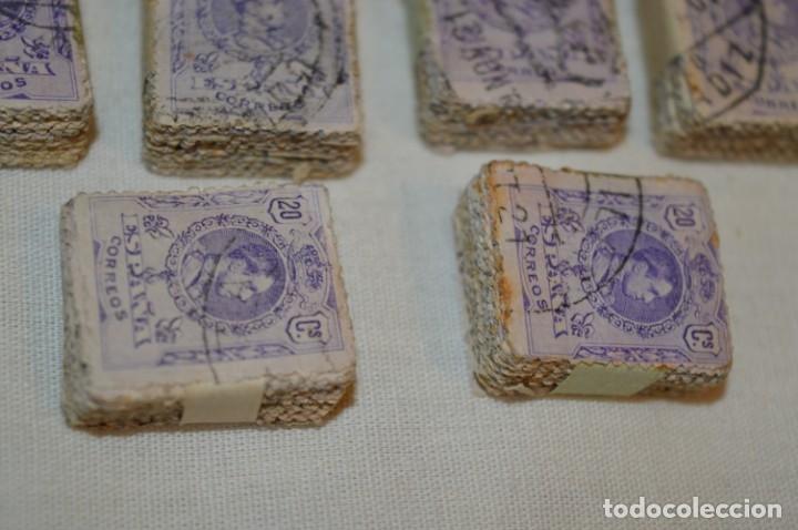 Sellos: Oportunidad 1000 Sellos - ALFONSO XIII - Tipo MEDALLÓN - 20 Cts, Reverso numerados, en pastillas 100 - Foto 11 - 176814012