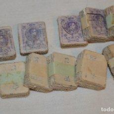 Sellos: OPORTUNIDAD 1000 SELLOS - ALFONSO XIII - TIPO MEDALLÓN - 20 CTS, REVERSO NUMERADOS, EN PASTILLAS 100. Lote 176814012