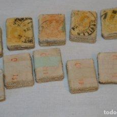 Sellos: OPORTUNIDAD 1000 SELLOS - ALFONSO XIII - TIPO MEDALLÓN - 15 CTS, REVERSO NUMERADOS, EN PASTILLAS 100. Lote 176817345