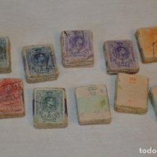 Sellos: OPORTUNIDAD 1000 SELLOS, ALFONSO XIII MEDALLÓN, VALORES DIFERENTES, REVERSO NUMERADOS, PASTILLAS 100. Lote 176818858