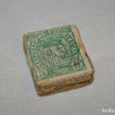 Sellos: OPORTUNIDAD 100 SELLOS, ALFONSO XII / 1ª REPÚBICA 1875 - IMPUESTO DE GUERRA - 5 CTS - PASTILLA 100. Lote 176820440