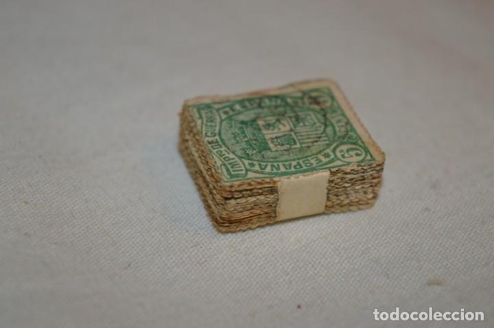 Sellos: Oportunidad 100 Sellos, ALFONSO XII / 1ª Repúbica 1875 - Impuesto de Guerra - 5 Cts - pastilla 100 - Foto 3 - 176820440
