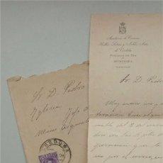 Sellos: CARTA ACADEMIA CIENCIAS BELLAS LETRAS Y NOBLES ARTES DE CÓRDOBA Y SOBRE CON SELLO (1908) VER TEXTO . Lote 177276600
