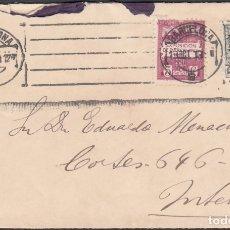 Sellos: SOBRE CIRCULADO CORREO INTERIOR CON SELLO COMPLEMENTARIO DEL AYUNTAMIENTO DE BARCELONA.. Lote 177422312