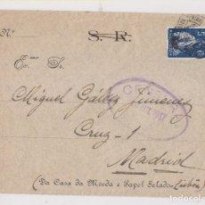Sellos: SOBRE AL FILATÉLICO GÁLVEZ. 1917. PORTUGAL A MADRID. CENSURA. Lote 177428385
