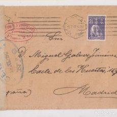 Sellos: SOBRE AL FILATÉLICO GÁLVEZ. 1917. PORTUGAL A MADRID. CENSURA. Lote 177429012