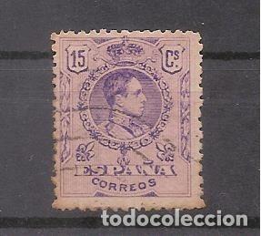 SELLO DE 15 CENTIMOS DE ALFONSO XIII - USADO (Sellos - España - Alfonso XIII de 1.886 a 1.931 - Usados)