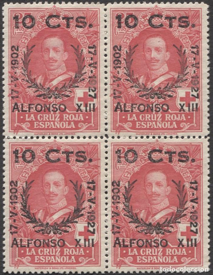 BLOQUE DE 4 EDIFIL 375 - JUBILEO DE ALFONSO XIII - MNH** (Sellos - España - Alfonso XIII de 1.886 a 1.931 - Nuevos)
