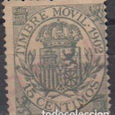 Sellos: FISCALES POSTALES, EDIFIL S/C. 15 C DE 1902.. Lote 178221886