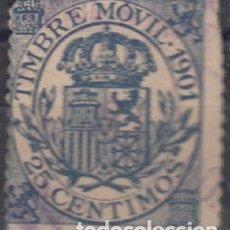 Sellos: FISCALES POSTALES, EDIFIL S/C. 25 C DE 1901.. Lote 178221995