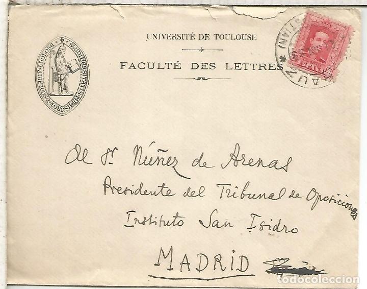 ALFONSO XIII CC ZARAUZ A MADRID SELLO VAQUER FECHA 1933 (Sellos - España - Alfonso XIII de 1.886 a 1.931 - Cartas)