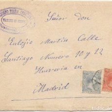 Sellos: SALAMANCA. PELON. EDIFIL 216 - 218. SOBRE DE FUENTES DE OÑORO A MADRID. 1901. . Lote 178328471