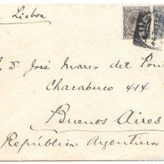 Sellos: ARGENTINA. PELON. EDIFIL 219 - 221. SOBRE DE MADRID A BUENOS AIRES 1894. Lote 178329982