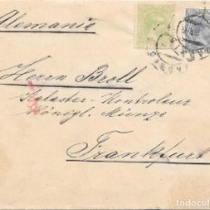 Sellos: ALEMANIA. PELON. EDIFIL 215 - 220. SOBRE DE MADRID A FRANKFURT 1891. Lote 178330846