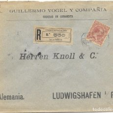 Sellos: ALEMANIA. PELON. EDIFIL 224. CERTIFICADO DE MADRID A LUDWIGSHAFEN 1900. Lote 178331855