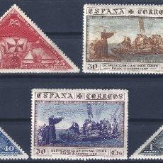 Sellos: EDIFIL 539-543 DESCUBRIMIENTO DE AMÉRICA 1930. VALOR CATÁLOGO: 95 €. LUJO. MNH **. Lote 178572476