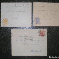 Sellos: 3 SOBRES FRANQUEADOS, DESTINATARIO: FRANCISCO CANDEL . Lote 178660778