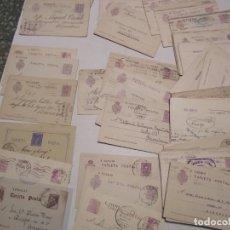Sellos: ST- HISTORIA POSTAL VALENCIA GRAN LOTE 102 ENTEROS POSTALES ANTIGUOS VER 5 IMÁGENES. Lote 179112768