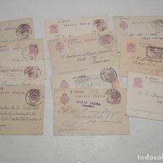 Sellos: ST- HISTORIA POSTAL TERUEL GRAN LOTE 15 ENTEROS POSTALES ANTIGUOS VER 3 IMÁGENES. Lote 179113175