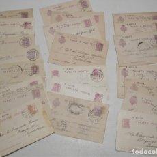 Sellos: ST- HISTORIA POSTAL JAEN GRAN LOTE 21 ENTEROS POSTALES ANTIGUOS VER 5 IMÁGENES. Lote 179113386
