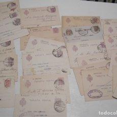 Sellos: ST- HISTORIA POSTAL CADIZ GRAN LOTE 26 ENTEROS POSTALES ANTIGUOS VER 5 IMÁGENES. Lote 179113437