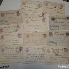Sellos: ST- HISTORIA POSTAL HUELVA GRAN LOTE 13 ENTEROS POSTALES ANTIGUOS VER 4 IMÁGENES. Lote 179113541