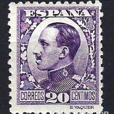 Sellos: ESPAÑA - 1930-1931 - ALFONSO XIII TIPO VAQUER - 20 CENTIMOS - EDIFIL 494 -NUEVO MH* SEÑAL FIJASELLOS. Lote 179331585