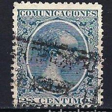 Sellos: ESPAÑA - 1889-1899 - ALFONSO XIII 'PELÓN' - 25 CENTIMOS - EDIFIL 221 - USADO. Lote 179381727