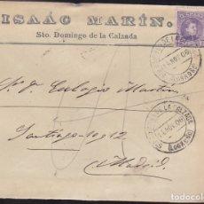 Sellos: F28-1- CARTA SANTO DOMINGO DE LA CALZADA . LOGROÑO 1906. CON TEXTO. Lote 179391311