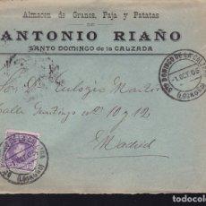 Sellos: F28-3- CARTA SANTO DOMINGO DE LA CALZADA . LOGROÑO 1905. CON TEXTO. Lote 179392362