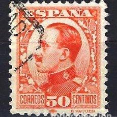 Sellos: ESPAÑA - 1930-1931 - ALFONSO XIII TIPO VAQUER - 50 CÉNTIMOS - EDIFIL 498 - USADO CENTRADO. Lote 179538560