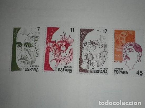 ESPAÑA 1986 2853/6 SELLOS NUEVOS PERSONAJES FRANCISCO LOSCOS BERNAL, SALVADOR ESPRIU, AZORIN Y JUAN (Sellos - España - Alfonso XIII de 1.886 a 1.931 - Nuevos)