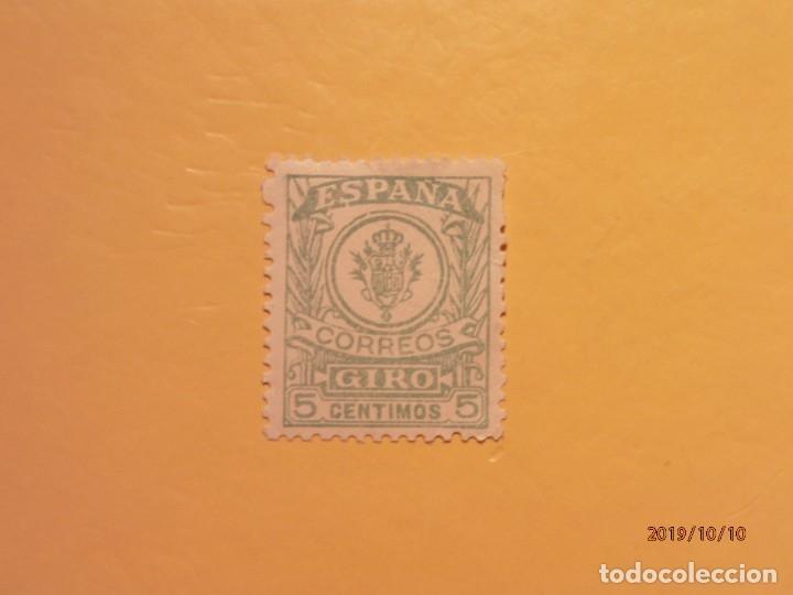 ESPAÑA - CORREOS GIRO 5 CENTIMOS. (Sellos - España - Alfonso XIII de 1.886 a 1.931 - Usados)