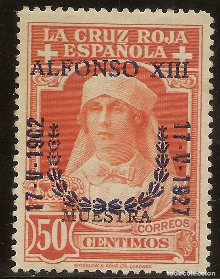 EDIFIL ESPECIALIZADO 358M** MNH MUESTRA 50 CÉNTIMOS NARANJA JUBILEO 1927 NL488 (Sellos - España - Alfonso XIII de 1.886 a 1.931 - Nuevos)