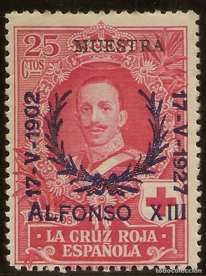 EDIFIL ESPECIALIZADO 355M** MNH MUESTRA 25 CÉNTIMOS CARMÍN JUBILEO 1927 NL752 (Sellos - España - Alfonso XIII de 1.886 a 1.931 - Nuevos)