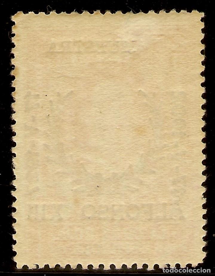 Sellos: Edifil Especializado 355M** Mnh Muestra 25 Céntimos Carmín Jubileo 1927 NL752 - Foto 2 - 179947161
