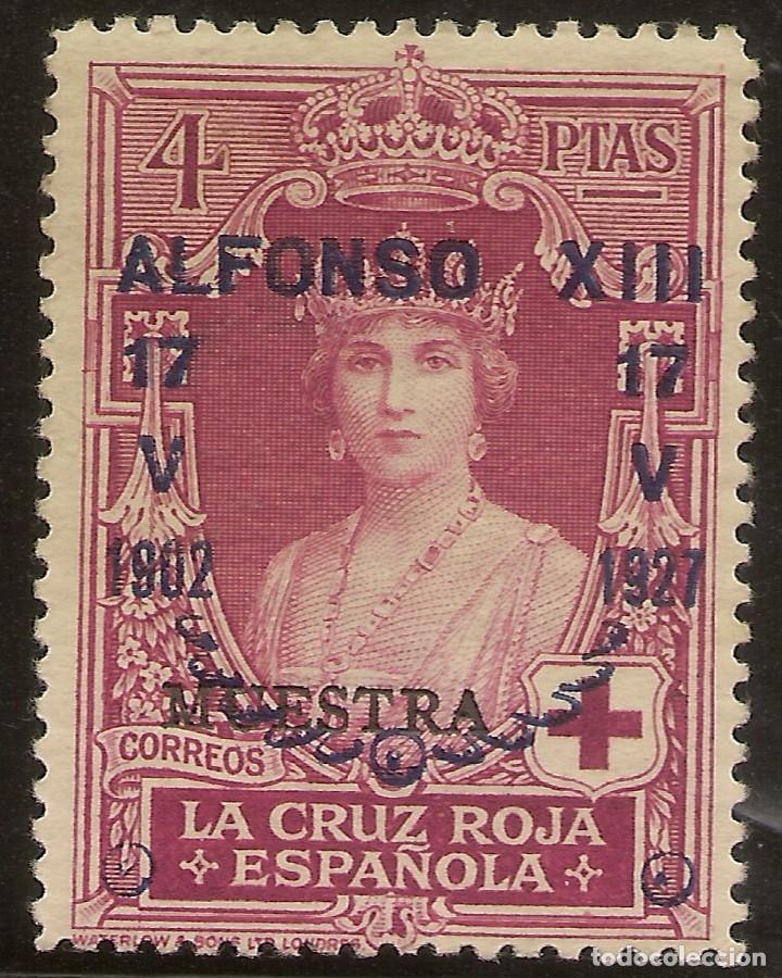 ESPAÑA EDIFIL ESPECIALIZADO 360M** MNH 4 PESETAS CARMÍN MUESTRA JUBILEO 1927 NL999 (Sellos - España - Alfonso XIII de 1.886 a 1.931 - Nuevos)