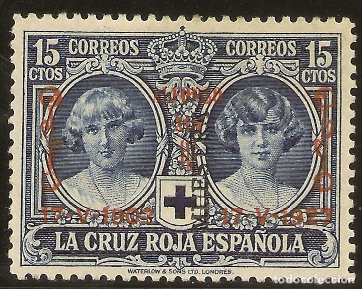 EDIFIL ESPECIALIZADO 353M** MNH MUESTRA 15 CÉNTIMOS AZUL JUBILEO 1927 NL1062 (Sellos - España - Alfonso XIII de 1.886 a 1.931 - Nuevos)