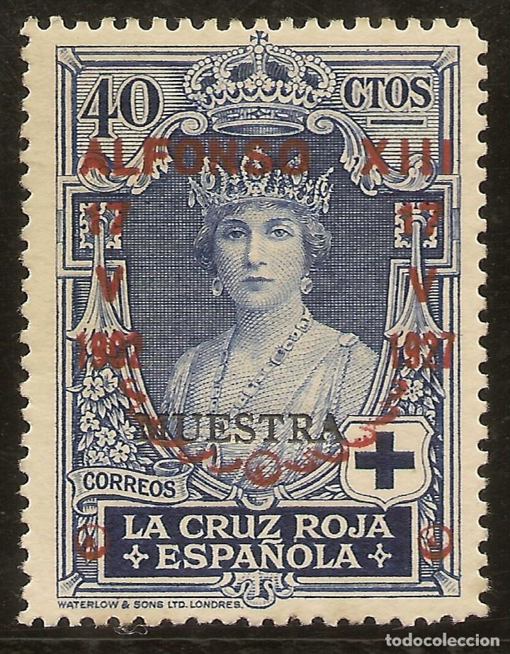 EDIFIL ESPECIALIZADO 357M** MNH MUESTRA 40 CÉNTIMOS AZUL JUBILEO 1927 NL1078 (Sellos - España - Alfonso XIII de 1.886 a 1.931 - Nuevos)