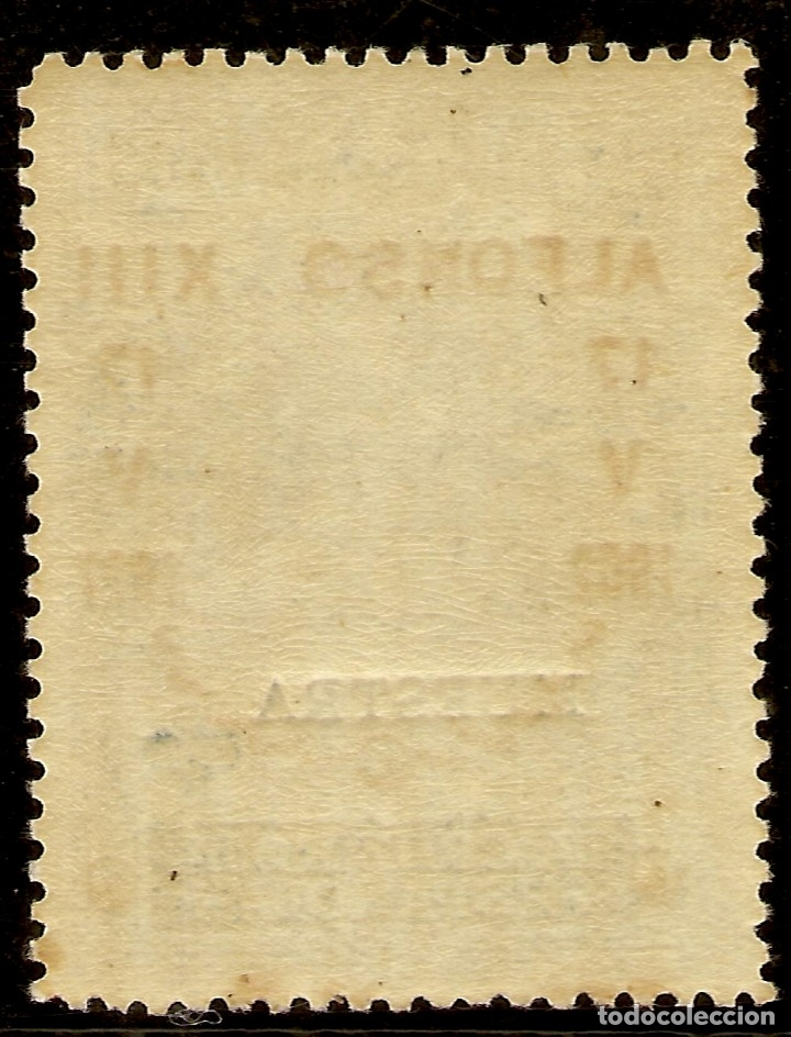 Sellos: Edifil Especializado 357M** Mnh MUESTRA 40 Céntimos Azul Jubileo 1927 NL1078 - Foto 2 - 179948927
