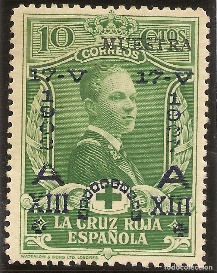 EDIFIL ESPECIALIZADO 352M** MNH MUESTRA 10 CÉNTIMOS VERDE JUBILEO 1927 NL1243 (Sellos - España - Alfonso XIII de 1.886 a 1.931 - Nuevos)