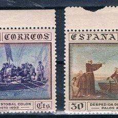 Sellos: ESPAÑA 1930 COLON EDIFIL 540 Y 542 MNH**BORDE HOJA GOMA ORIGINAL P.CAT47€. Lote 180033222