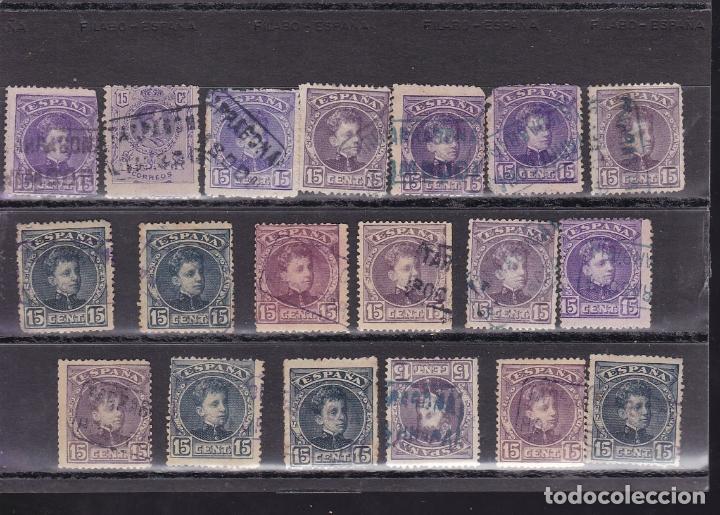 Sellos: ST- Alfonso XIII . Lote de 152 sellos Matasellos CARTERIA TARRAGONA. Ver 8 Imágenes - Foto 2 - 180134198