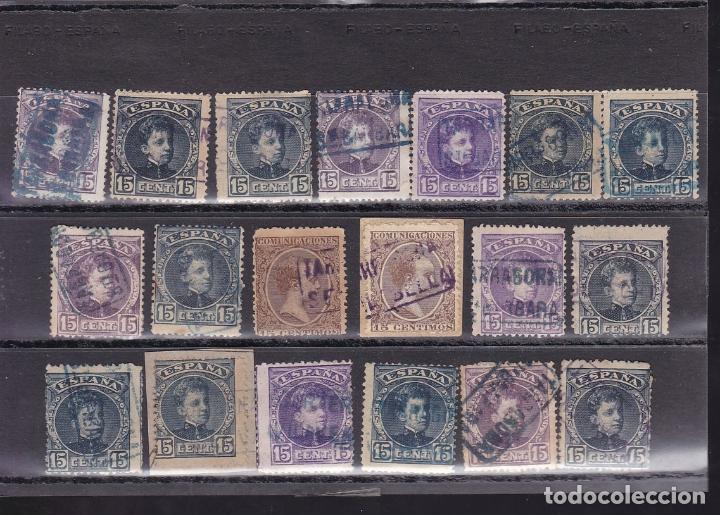 Sellos: ST- Alfonso XIII . Lote de 152 sellos Matasellos CARTERIA TARRAGONA. Ver 8 Imágenes - Foto 3 - 180134198